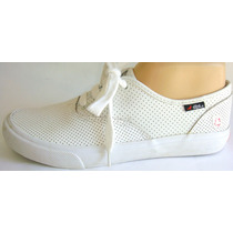 Air Walk Zapatillas 39 Cuero Blanco Punteado (feriabaires)
