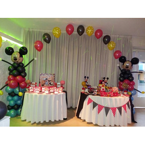 Arco De Globo + Centros De Mesa Decoracion Con Globos Mickey