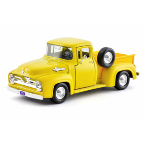Ford F-100 Pick-up 1:24 1955 Amarelo- Motormax