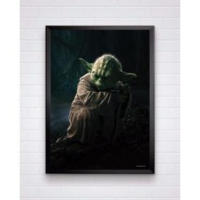 Poster Do Star Wars - Mestre Yoda Tamanho A3 Com Moldura