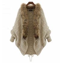 Suéter Elegante Dama Bordado Moda Juvenil Abierto Abrigador