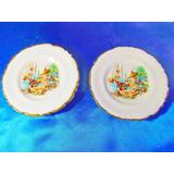 El Arcon Par De Platos De Porcelana Lozafina 12,3cm 29107