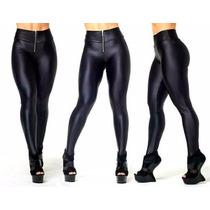 Calça Feminina Disco Hot Pants Suplex Resinado Tipo Cirre
