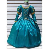 Vestido Princesa Merida Disfraz De Valiente Bella Elsa Sofia