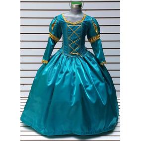 Disfraz Vestido Princesa Merida De Valiente Corona Regalo