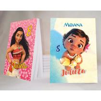 Moana Princesa Souvenir Anotador Personalizado X32!!!