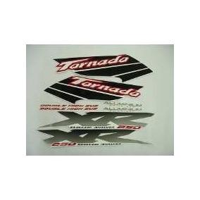 Kit Jogo Adesivo Faixa Moto Xr Tornado 2003 03 Branca 564