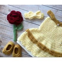 Vestido De Bella Y Bestia Tejido A Crochet Envio Gratis