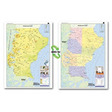 Mapa Mural Provincia De Santa Cruz - Físico/político