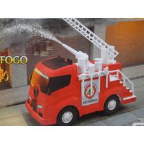 Caminhão Bombeiro Grande Com Bomba De Agua Escada Acessorios
