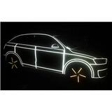 Accesorios Para Autos Cinta Reflectiva Franja Calco X 5 Mt
