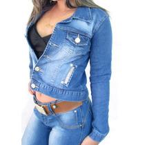 Jaqueta Jeans Feminina Jaquetinha (01106)