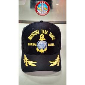 Boné Maritime Task Force Marinha Do Brasil C/ Aba Bordada