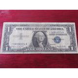 Billete One 1 Dollar Certificado De Plata Estrella 1957