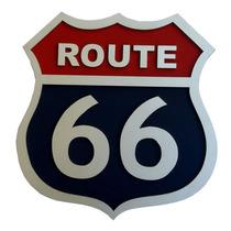 Placa Decorativa Route 66 Alto Relevo