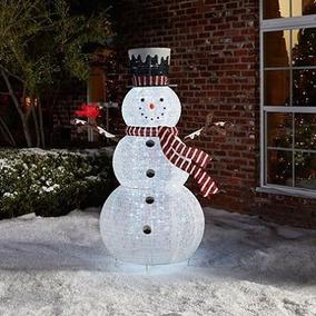 Frostie Hombre De Nieve Patio Con Luces De Led 200 1.82 Mts