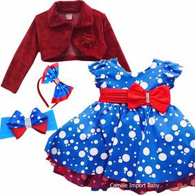 Vestido Infantil Festa Galinha Pintadinha Bolero Promoção
