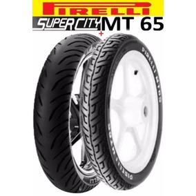 Pneu Moto Cg Ybr Pirelli Super City 100/80 18 + 2.75 18 Tl