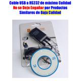 Cable Usb Convertidor Serial Rs232 Puerto Db9 Mayor Y Detal