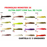 Isca Artificial Soft Camarão Monster 3x Ultra Soft P-m-g !!!