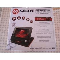 Dvd Portátil Mox 7+tv +suporte Veicular Mo-7067