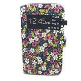 Capa Carteira Floral Com Visor Para Samsung Galaxy Trend Lit