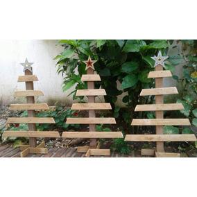 rbol de navidad de madera para decorar a tu gusto