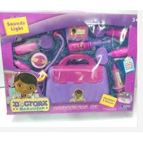 Maleta Doutora Brinquedos Com Acessórios 09 Peças Kit Médico