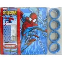 Cuarto De Baño Baño Cortina De Ducha De Vinilo Spiderman