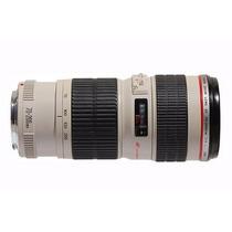 Lente Canon 70-200 F4 L Usm Ef Tele C/ Case E Parasol + Uv