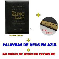 Bíblia King James Índice Palav Deus Azul Palav Jesus Vermel