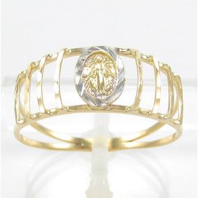 Esfinge Jóias - Anel Nossa Senhora Graças Aro21 Ouro 18k 750