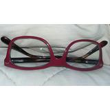 Óculos Grau Femi Lougge Cereja Semi Novo