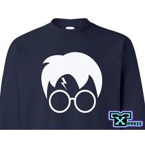 Sudadera Comoda Harry Potter Lentes Rayo Moda !