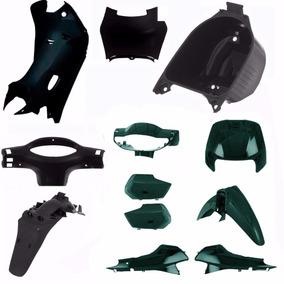 Kit Plastico Carenagem Completa P/ Biz 100 Ano 2004 Verde