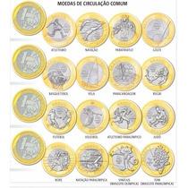 Coleção Completa 16 Moedas 1 Real Olimpíada Flor De Cunho Fc