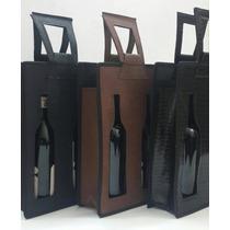 Porta Vino Doble Simil Carpincho