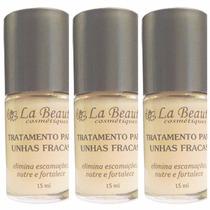 03 Bases La Beauté Tratamento Para Unhas Fracas .