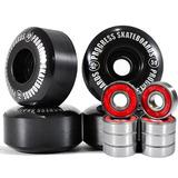 Jogo Com 4 Rodas De Skate Street 51mm + 8 Rolamentos Abec13