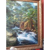 Pintura Cuadro Oleo Sobre Tela Río Victor Quincoza 2005