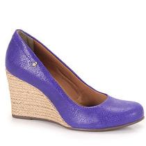 Sapato Anabela Espadrille Feminino Cravo & Canela - Azul