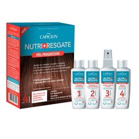 Pós - Progressiva Nutri + Resgate Capicilin Com 4 Passos