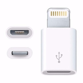 Adaptador V8 A Lighting Iphone 5/5c/5s/6/6s/6s Plus/7/7s