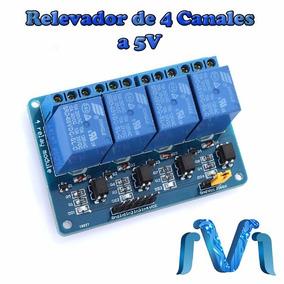 Modulo De Relevadores Relay De 4 Canales A 5v