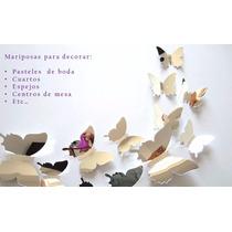 Mariposas Plateadas Decoración De Pared - Estilo Minimalista