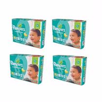 4 Pampers C Sec Xg X36 + 4 Toallitas Pampers Fresh Clean X64