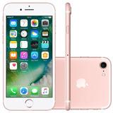 Apple Iphone 7 256gb Impressão Digital Rosa Tela 4.7