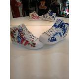Botitas Up Floreadas Para Mujer adidas Originales Zapatillas