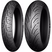 Par Pneu Moto 120/70zr17 E 180/55zr17 Michelin Pilot Road 4