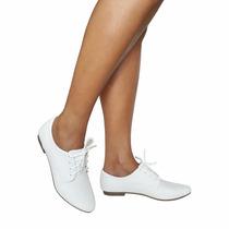 Sapato Branco Enfermagem Feminino Oxford Social Fechado
